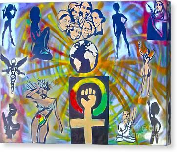 Feminism 101 Canvas Print by Tony B Conscious