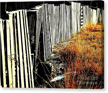 Fence Abstract Canvas Print
