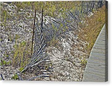 Canvas Print featuring the photograph Fence And Boardwalk by Susan Leggett