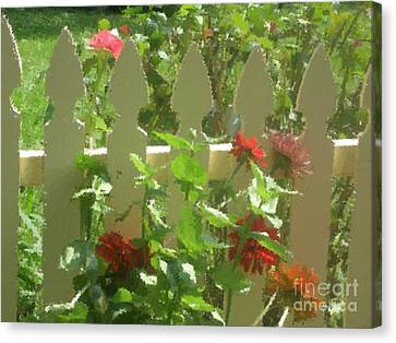 Fence On Benner's School Road Canvas Print