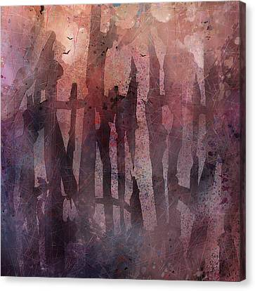 Melancholy Canvas Print - Fences by Rachel Christine Nowicki