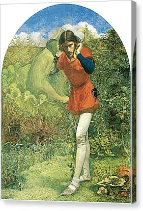 Shakespear Canvas Print - Ferdinand Lured By Ariel by John Everett Millais