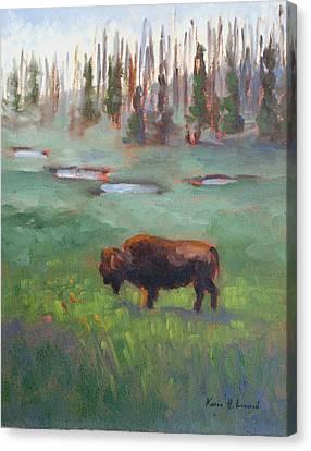 Ferdinand Yellowstone Np Canvas Print by Karin  Leonard