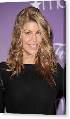 Fergie At In-store Appearance Canvas Print by Everett