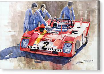 Ferrari 312 Pb 1972 Daytona 6-hour Winning Canvas Print