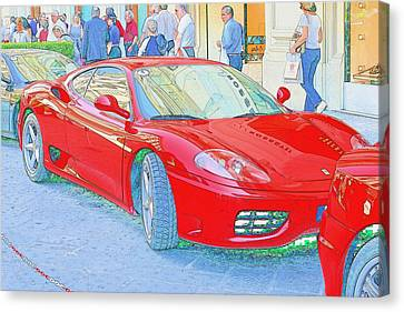 Ferrari In Rome Canvas Print by Don Fleming