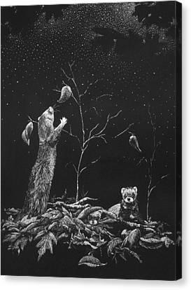 Ferret Dreams Canvas Print