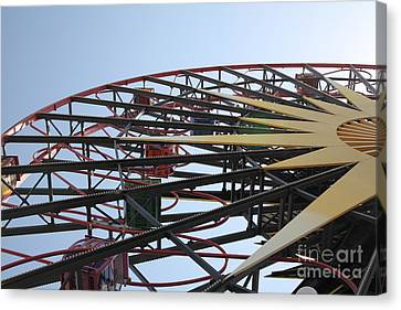 Ferris Wheel - 5d17620 Canvas Print by Wingsdomain Art and Photography