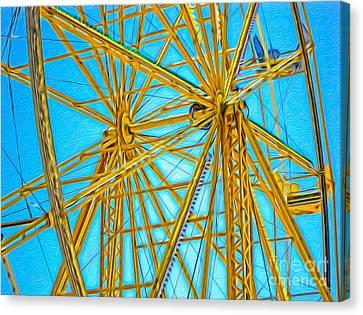Ferris Wheel Canvas Print by Gregory Dyer