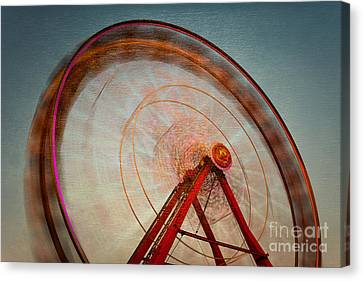 Ferris Wheel Ix Canvas Print by Clarence Holmes
