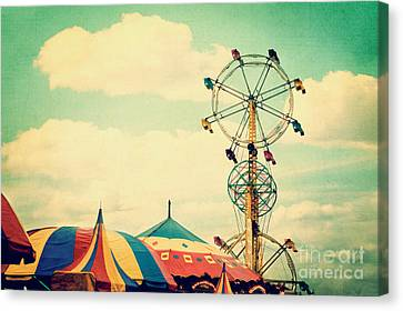 Ferris Wheel Canvas Print by Kim Fearheiley