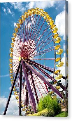 Ferris Wheel Canvas Print by Lynnette Johns