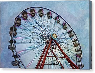 Ferris Wheel Canvas Print by Susan Candelario