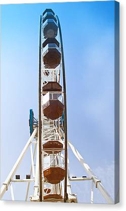 Canvas Print featuring the pyrography Ferris Wheel by Susi Stroud