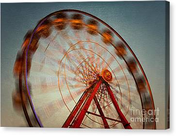 Ferris Wheel Vi Canvas Print by Clarence Holmes