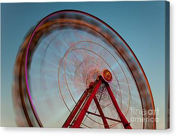 Ferris Wheel Vii Canvas Print by Clarence Holmes