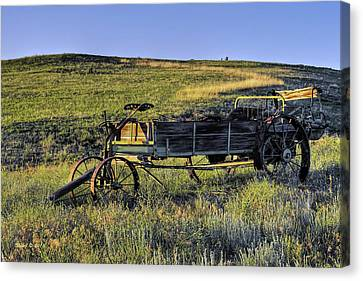 Canvas Print featuring the photograph Fertilizer Spreader by Stephen  Johnson