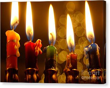 Canvas Print featuring the photograph Festival Of Lights by Linda Mesibov