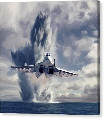 Fffffffighter Kaboooooooommmm Canvas Print