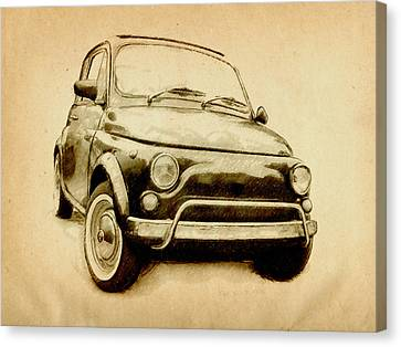 Fiat 500l 1969 Canvas Print by Michael Tompsett