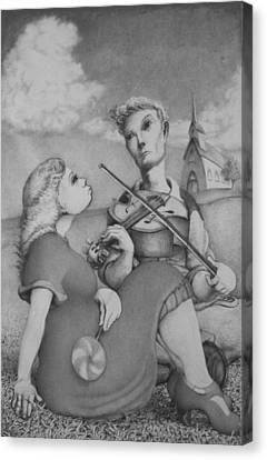 Fiddle Canvas Print by Louis Gleason