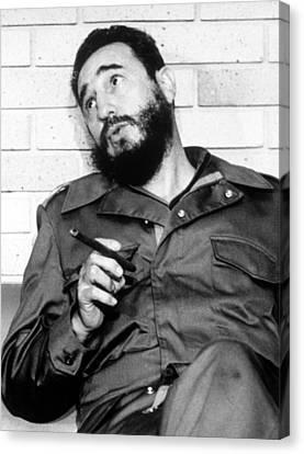 Fidel Castro, In 1974 Canvas Print by Everett