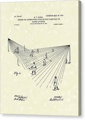 Field Lighting 1904 Patent Art Canvas Print