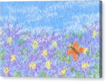 Field Of Asters - Impressionism Canvas Print by Heidi Smith