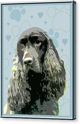 Field Spaniel Canvas Print by One Rude Dawg Orcutt