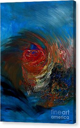 Canvas Print featuring the painting Fierce by Ayasha Loya