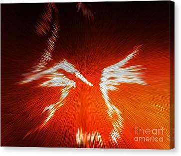 Fiery Angel Face Canvas Print by Robert Haigh