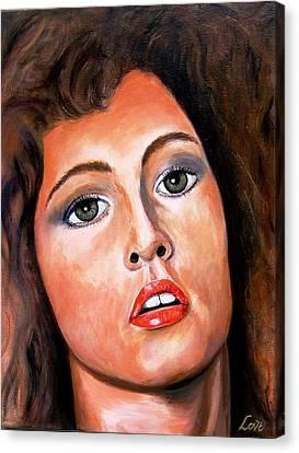 Fiery Lady Canvas Print