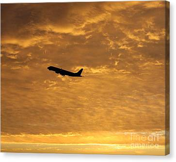 Canvas Print featuring the photograph Fiery Skies by Alex Esguerra