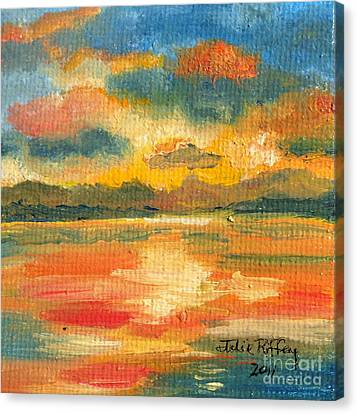 Fiery Sunset Canvas Print by Julie Brugh Riffey