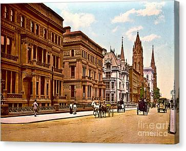 Fifth Avenue And 51st Street New York City 1900 Canvas Print by Padre Art