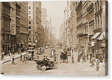 Fifth Avenue New York City 1907 Canvas Print by Padre Art
