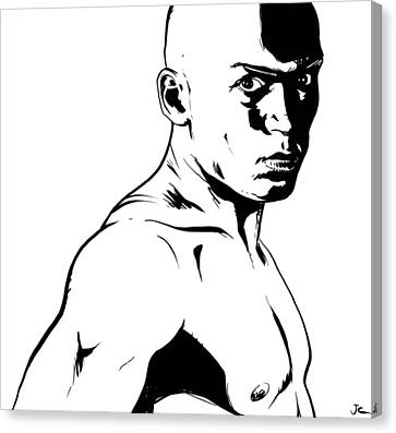 Fighter Canvas Print by Giuseppe Cristiano