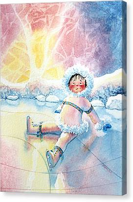 Figure Skater 10 Canvas Print by Hanne Lore Koehler