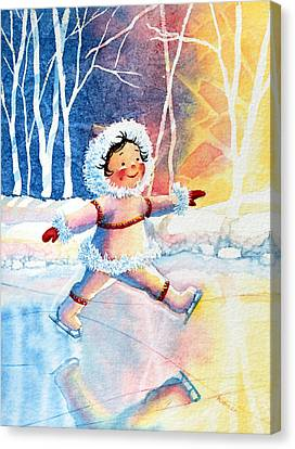 Figure Skater 11 Canvas Print by Hanne Lore Koehler
