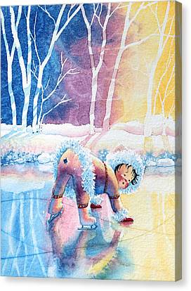 Figure Skater 12 Canvas Print by Hanne Lore Koehler