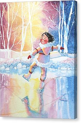 Figure Skater 13 Canvas Print by Hanne Lore Koehler