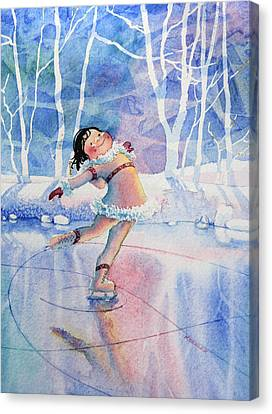 Figure Skater 14 Canvas Print by Hanne Lore Koehler