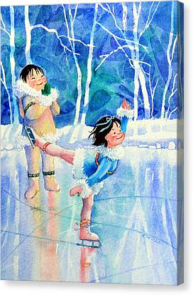 Figure Skater 15 Canvas Print by Hanne Lore Koehler