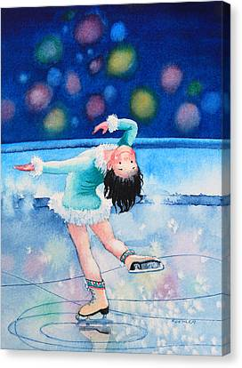 Figure Skater 16 Canvas Print by Hanne Lore Koehler