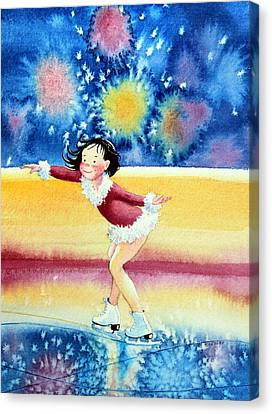 Figure Skater 17 Canvas Print by Hanne Lore Koehler