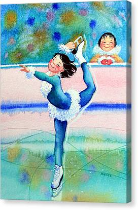 Figure Skater 19 Canvas Print by Hanne Lore Koehler