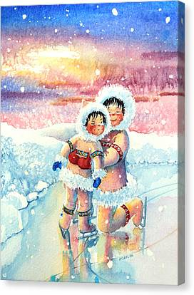 Figure Skater 7 Canvas Print by Hanne Lore Koehler