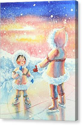 Figure Skater 8 Canvas Print by Hanne Lore Koehler