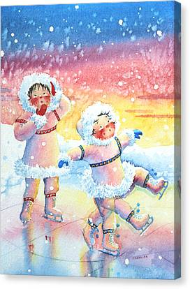 Figure Skater 9 Canvas Print by Hanne Lore Koehler