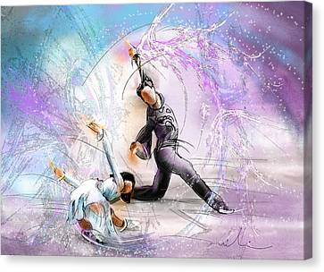 Figure Skating 02 Canvas Print by Miki De Goodaboom